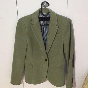 Zara green velvet vest